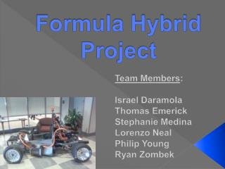 Formula Hybrid Project