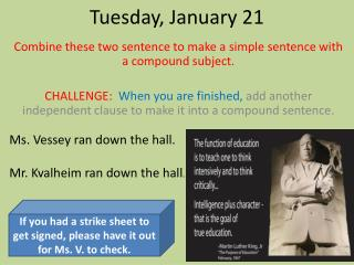 Tues day , January  21