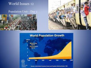 World Issues 12 Population Unit – Day 2