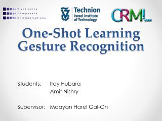 One-Shot Learning Gesture Recognition