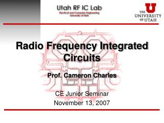 Radio Frequency Integrated Circuits