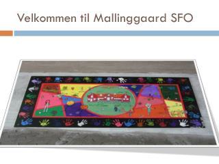Velkommen til Mallinggaard SFO