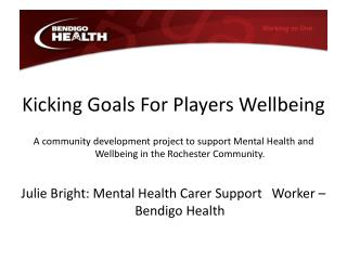 Kicking Goals For Players Wellbeing