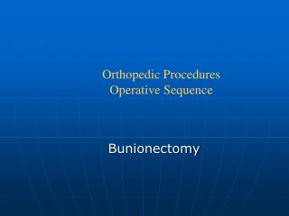 Bunionectomy
