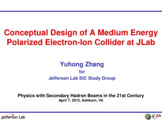Conceptual Design of A Medium Energy Polarized Electron-Ion Collider at  JLab