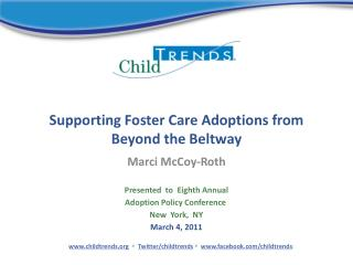 Supporting Foster Care Adoptions from Beyond the Beltway