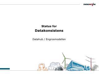 Status for  Datakonsistens