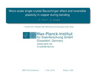 Micro-scale single crystal  Bauschinger  effect and reversible plasticity in copper during bending
