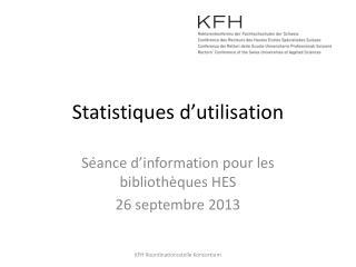 Statistiques d'utilisation