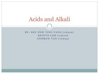 Acids and Alkali