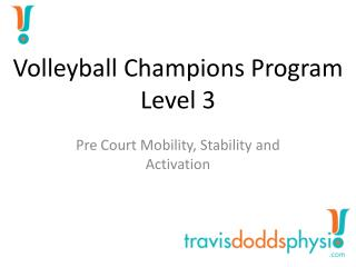 Volleyball Champions  Program Level 3
