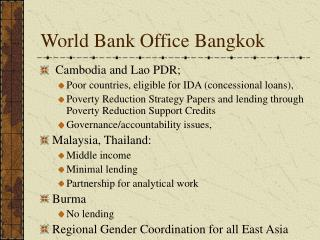 World Bank Office Bangkok