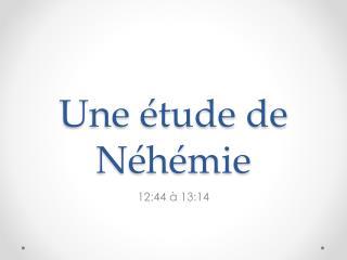 Une étude de Néhémie