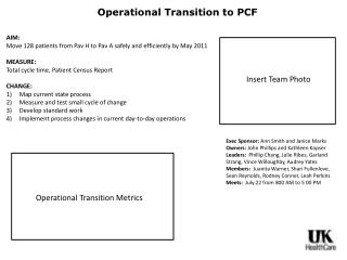 Operational Transition to PCF