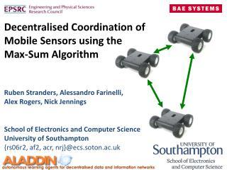 Decentralised  Coordination of  Mobile Sensors using  the  Max-Sum Algorithm