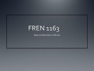 FREN 1163