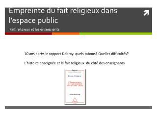 Empreinte du fait religieux dans l'espace public