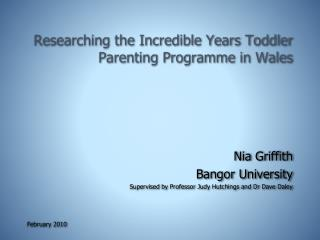 Researching the Incredible Years Toddler Parenting Programme in Wales