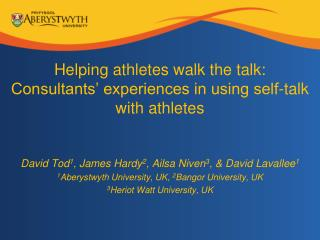 Helping athletes walk the talk: Consultants  experiences in using self-talk with athletes