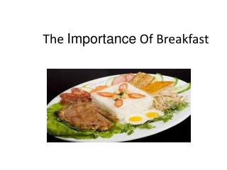 The  Importance  Of  B reakfast