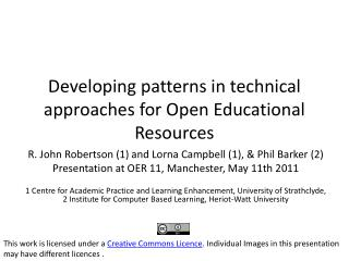 Developing patterns in technical approaches for Open Educational Resources