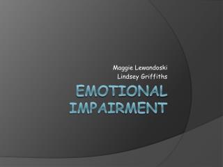 Emotional Impairment