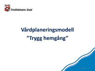 """Vårdplaneringsmodell """"Trygg hemgång"""""""