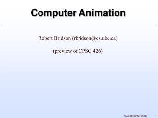 cs533d-winter-2005 Computer Animation