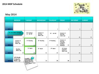 2014 MSP Schedule