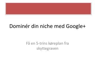 Dominér din niche med Google+