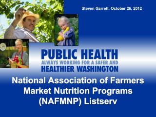 National Association of Farmers Market Nutrition Programs (NAFMNP) Listserv