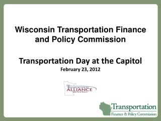 Wisconsin Transportation Finance and Policy Commission