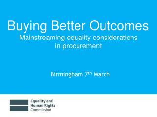 Birmingham 7 th  March