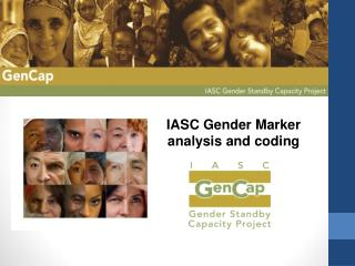 IASC Gender Marker analysis and coding