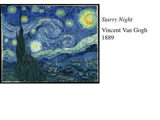 Starry Night Vincent Van Gogh 1889