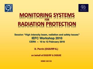 Monitoring Systems For Radiation Protection