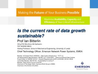 Is the current rate of data growth sustainable?