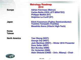 Metrology Roadmap 2010