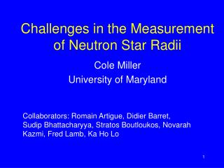 Challenges in the Measurement of Neutron Star Radii