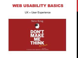 Web Usability basics