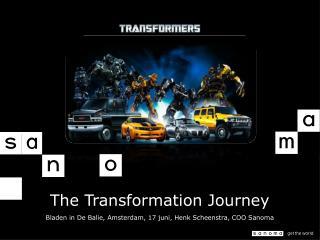 The Transformation Journey Bladen in De  Balie , Amsterdam, 17  juni , Henk Scheenstra, COO Sanoma