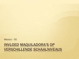 Invloed maquiladora's op verschillende schaalniveaus