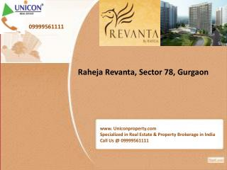 Revanta Gurgaon - Call @ 09999561111 for Raheja Revanta