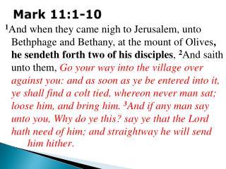 Mark 11:1-10