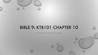 Bible 9: KtB101  chapter 10