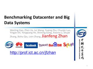 Benchmarking Datacenter and Big Data Systems