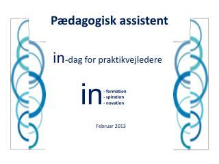 Pædagogisk assistent