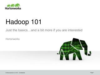 Hadoop 101
