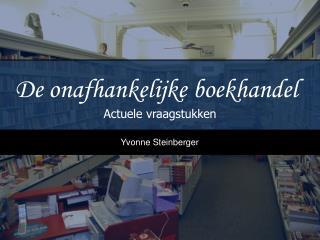 De onafhankelijke boekhandel
