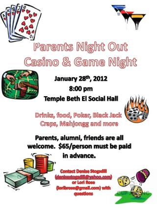 Parents Night Out Casino & Game Night